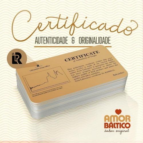 Brinco Disco de Âmbar Conhaque e Prata Esterlina 925